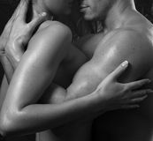 interracial sexigt för par Royaltyfria Foton