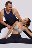 Interracial sports couple Stock Images