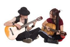 Interracial Young Couple Music Stock Photos