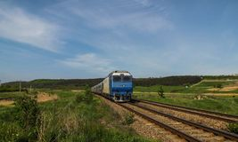 Interregio train, Romania royalty free stock images