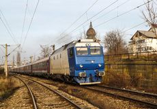 Interregio train, Romania stock photography