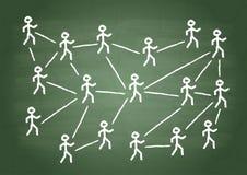 Interrelation man stock illustration