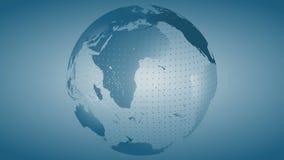 Interri 8 ciclo girante del fondo del globo stilizzato di //4k il video illustrazione vettoriale