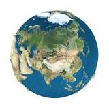 Interri il globo, isolato su bianco Immagini Stock Libere da Diritti