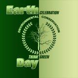 Interri la celebrazione del ` s e pensi il verde illustrazione vettoriale