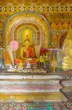 Interrior av den Natha Devale relikskrin Arkivbild