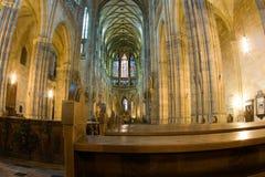 Interrior da catedral do St. Vitus fotos de stock royalty free