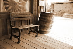 Interrior dos EUA do vintage ao lado da casa velha imagem de stock royalty free