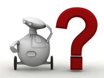 Interrogação do robô ilustração royalty free