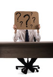 Interrogative businessman Royalty Free Stock Images