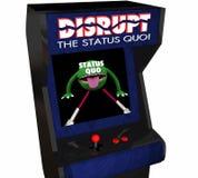 Interrompa il cambiamento di status quo innovano video gioco Fotografia Stock Libera da Diritti