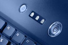 Interrupteur d'ordinateur portatif et voyants de signalisation Image stock