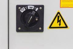 interrupteur on/off pour le coffret electical pour la machine photos stock