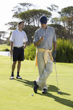 Interruption to the game of golf Stock Photography