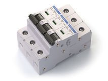 Interruptor automático no fundo branco ilustração do vetor