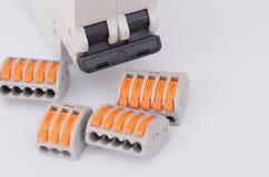 Interruptor com os conectores de emenda compactos imagens de stock