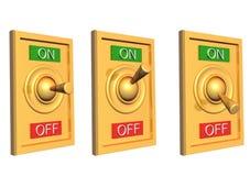 interruptor 3d Imagen de archivo