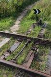 Interruptor da estrada de ferro do dispositivo na estrada de ferro velha Foto de Stock