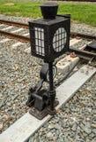 Interruptor da estrada de ferro na estação imagens de stock royalty free