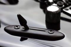 Interruptor da guitarra elétrica, botão foto de stock