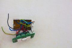 Interruptor da luz aberto foto de stock