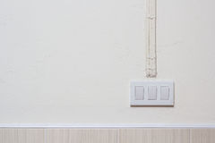 Interruptor da luz bonde na parede Foto de Stock Royalty Free