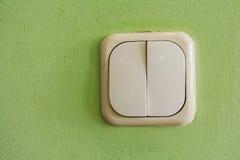 Interruptor da luz do marfim de duas alavancas imagens de stock royalty free