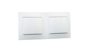 Interruptor da luz dobro branco Fotografia de Stock Royalty Free