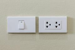 interruptor da luz e tomada elétrica Imagem de Stock Royalty Free