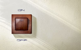 Interruptor da luz fixado na parede imagens de stock royalty free