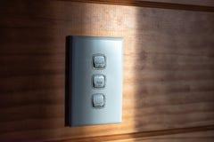 Interruptor da luz horizontal imagens de stock