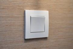 Interruptor da luz moderno branco interior Imagens de Stock Royalty Free