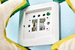 Interruptor da luz ou caixa dos pattress com parte superior imagem de stock