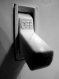 Interruptor da luz para e fora da iluminação do poder imagens de stock royalty free