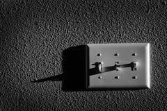 Interruptor da luz para girar sobre o poder para lâmpadas fotos de stock royalty free