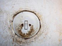 Interruptor da luz sujo velho fotografia de stock