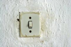 Interruptor da luz velho foto de stock