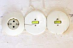 Interruptor da luz velho Imagem de Stock
