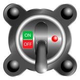 Interruptor de alavanca fora do painel, 3d no fundo branco Fotografia de Stock