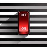 Interruptor de alavanca no fundo preto e branco ilustração stock