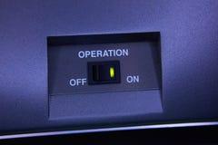Interruptor de alavanca preto imagens de stock