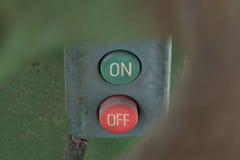 Interruptor de alimentação imagens de stock