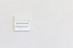 Interruptor de alimentação branco, vazio para o espaço da cópia fotos de stock