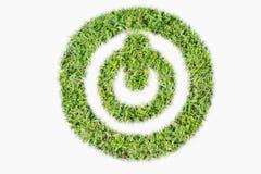Interruptor de alimentação verde do logotipo do relvado sobre fora Fotografia de Stock Royalty Free