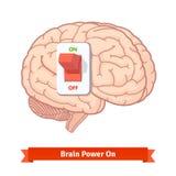 Interruptor de alimentação do cérebro sobre Conceito forte da mente Fotos de Stock Royalty Free