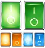 Interruptor de eje de balancín stock de ilustración