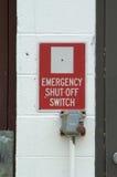 Interruptor de emergencia imagenes de archivo