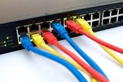 Interruptor de Ethernet imagen de archivo