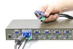 Interruptor de KVM Imagem de Stock Royalty Free