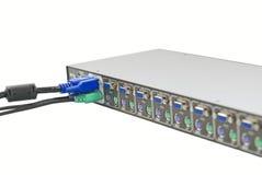 Interruptor de KVM imagens de stock